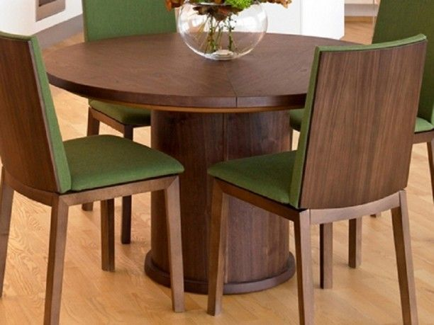 Round Extendable Dining Table And Chairs, Round Dining Table With Leaf,  Round Dining Room Tables ~ Home Design