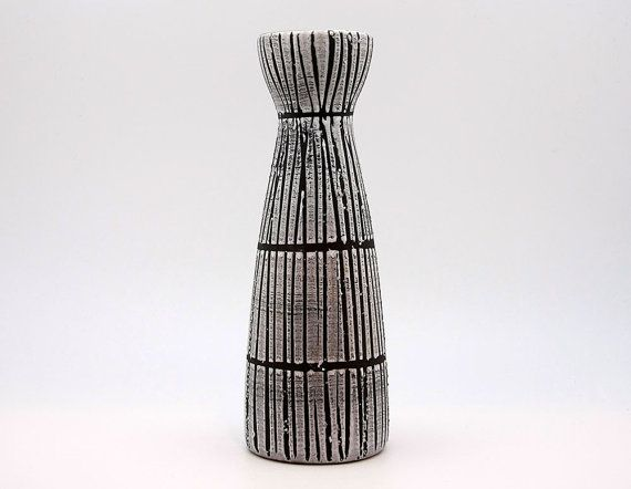West German Fat Lava vase with a Bambus decor by by Eclectivist, $58.00
