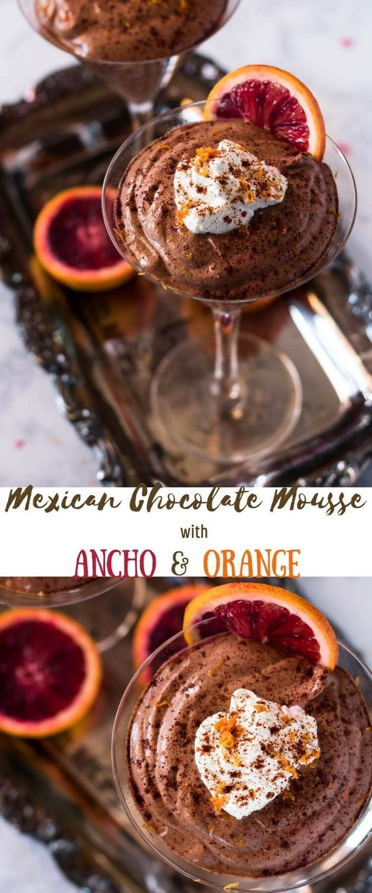 Mexican Chocolate Mousse - Mexican Chocolate Mousse With Ancho and Orange combines the luscious flavor of Mexican chocolate with Triple Sec and a hint of ancho chile powder in a fluffy, creamy mousse! A sweet treat that's hard to beat, and not a lot of ef