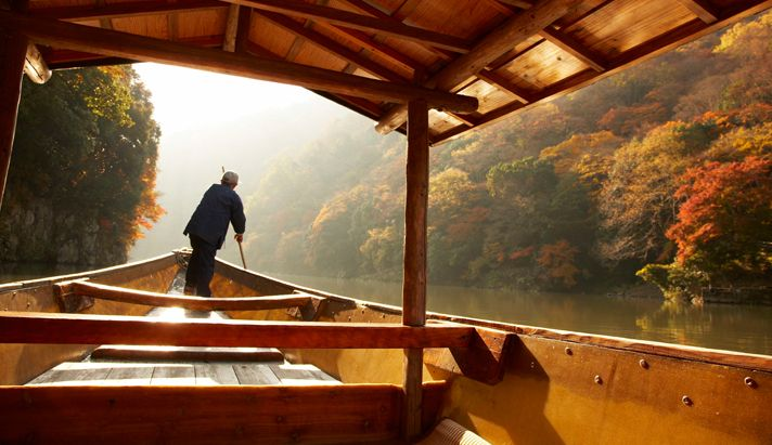 boat tour according to the seasons. HOSHINOYA Kyoto, Japan Hoshino Resorts