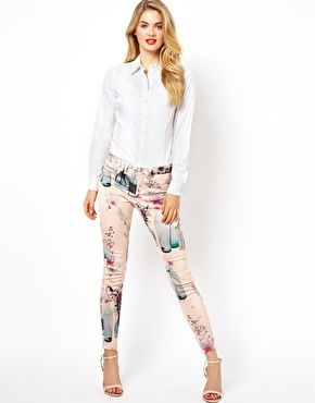 Image 4 of Ted Baker Jeans with Water Bottles Print