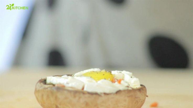 Cogumelos Portobello com Mozzarella e Ovos de Codorniz - Prato do Dia 2 | 24Kitchen