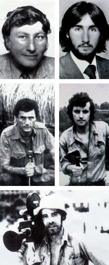 16 October - 5 Australians murdered in Timor - The Balibo Five was a group of journalists for Australian television networks based in the town of Balibo murdered in East Timo  - ** Click for more & please share