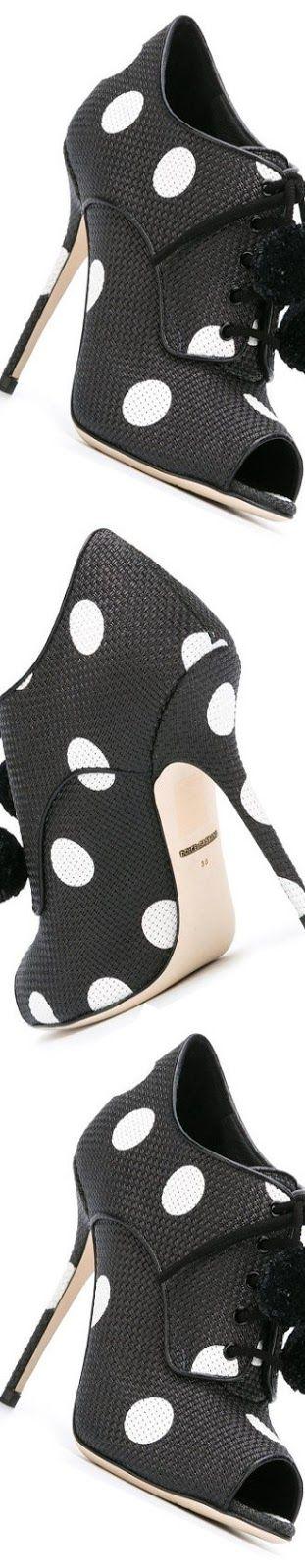 Shop Farfetch.Com Dolce & Gabbana Polka Dot Open-Toe Pumps