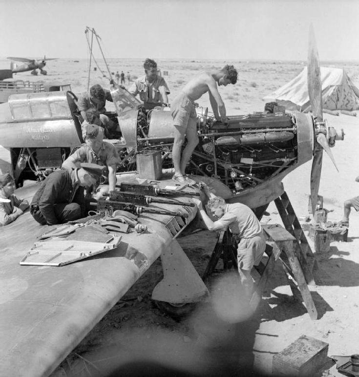 Maintenance_of_274_Sqn_RAF_Hurricane_Ger