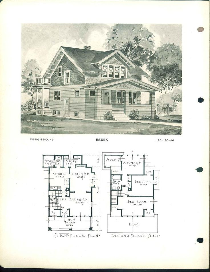 Building service house plans 1800 39 s 1940 39 s house plans for Pictures of house designs and floor plans