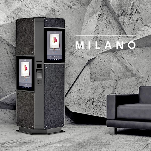 Milano is a fabric covered information and ticketing kiosk. As an addition the structure is covered with fabric offering a series of benefits such  as variety of colours and design, lightweight, economic to name a few. Fabric allows sound & light to pass through the material, making it possible  to install speakers or ticketing displays behind it.