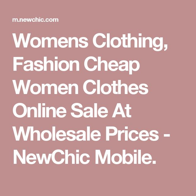 Womens Clothing, Fashion Cheap Women Clothes Online Sale At Wholesale Prices - NewChic Mobile.