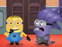 Общение желтого и фиолетового миньона не обещает ничего хорошего. Фиолетовые миньоны жестоки и любят обижать жёлтых.