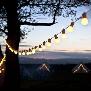 20 LED Warm White Connectable Festoon Lights, White Cable Type U £29.99 | Lights4fun.co.uk