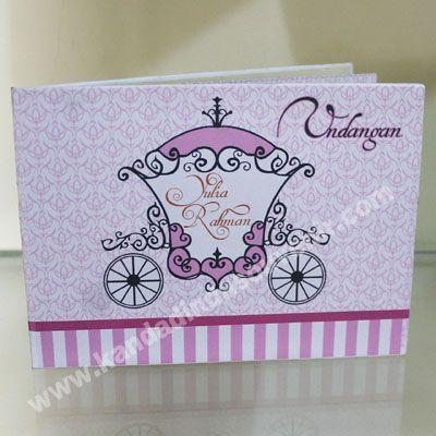 pink wedding cart