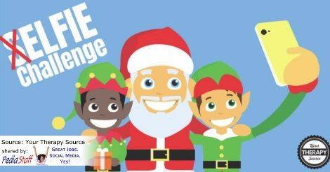 (S)elfie Elf Challenge – Get Kids Moving  - repinned by @PediaStaff – Please Visit ht.ly/63sNtfor all our pediatric therapy pins