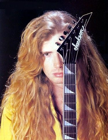 Dave Mustaine with his Jackson