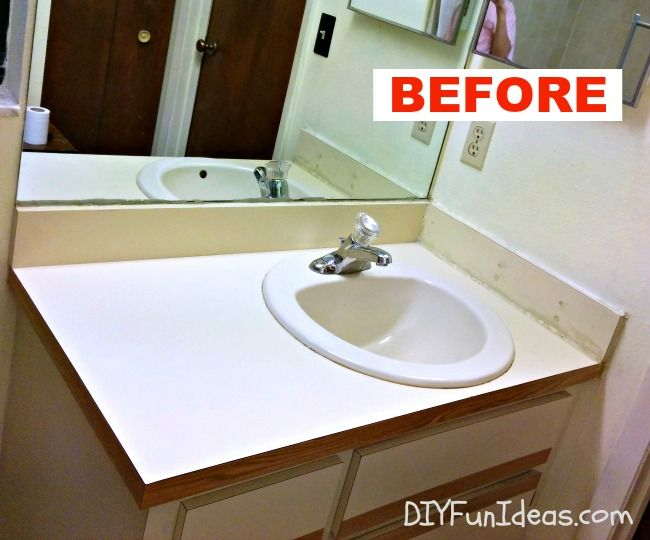 QUICK & EASY DIY CONCRETE COUNTER OVERLAY VANITY MAKEOVER Using Rapid Set® Cement All®