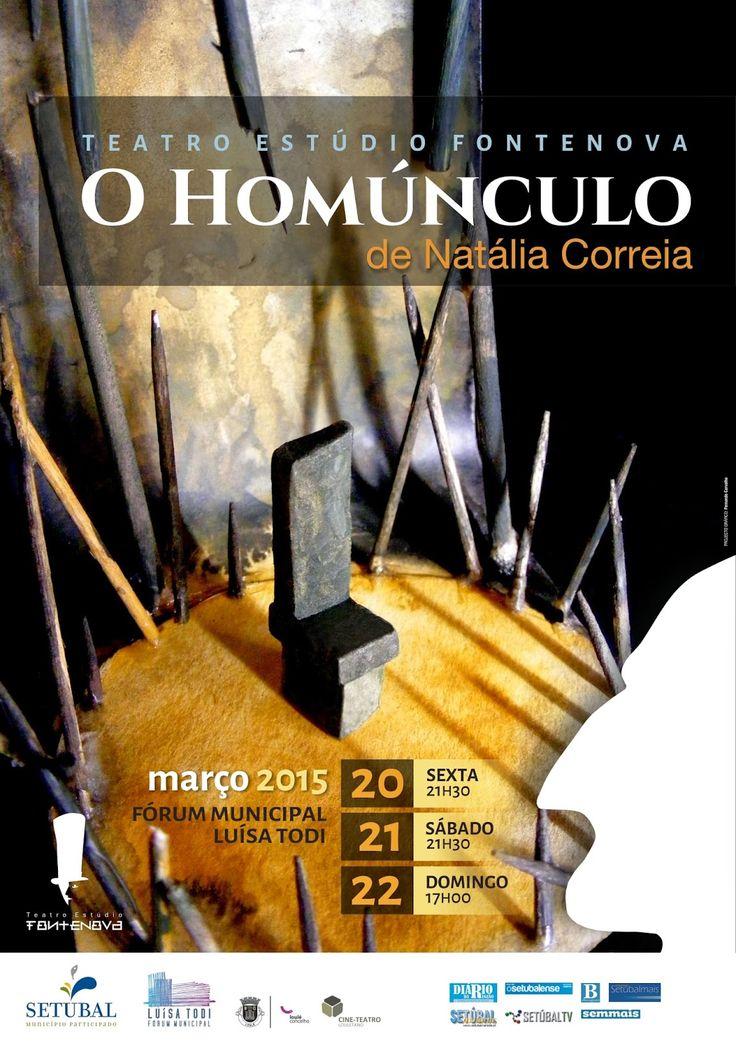 """Teatro Estúdio Fontenova: ESTREIA de  """"O Homúnculo"""" de Natália Correia."""