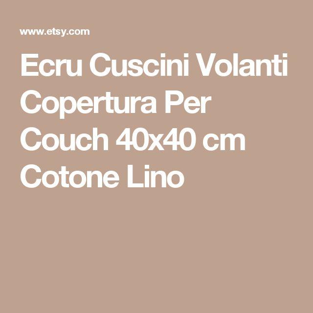 Ecru Cuscini Volanti Copertura Per Couch 40x40 cm Cotone Lino