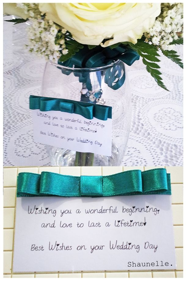 best wishes card.  #Bridal #Bouquet done by me as well click photo to view the blog post.  *Sorry for the photo quality was taken with my mobile cam