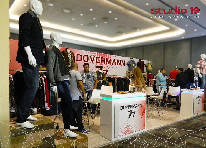Stand tipo custum de la marca Dovermann. Montado en Intermoda - Chourrom Jun 2016