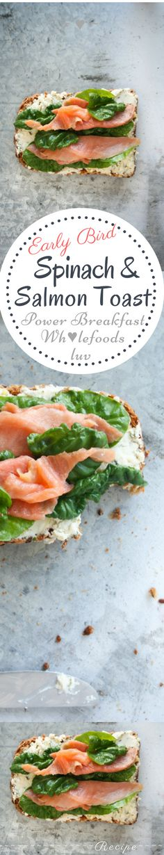 Salmon and Spinach Toast Recipe