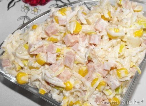 Sałatka z selera ananasa i szynki