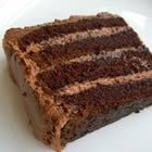 "Extreme Chocolate Cake - ""A rich moist chocolate cake with a chocolate butter-cream icing. This is the best cake in the world!"""