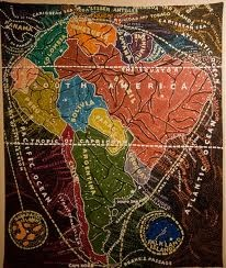 South America -Paula Scher Maps
