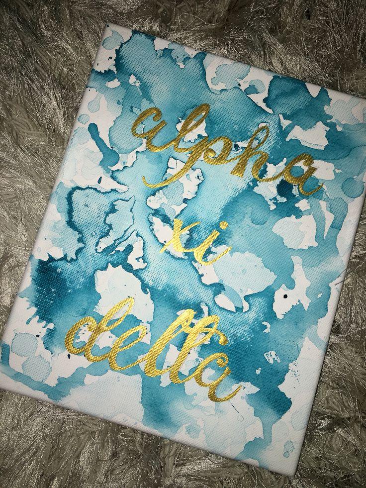 alpha xi delta canvas #sorority #alphaxidelta #biglittle