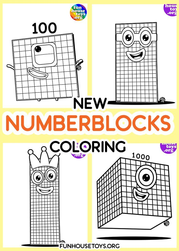 Numberblocks 6 T0 10 Printable Coloring Fun Printables For Kids Coloring For Kids Coloring Pages