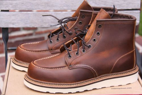 New Red Wing Heritage 1907 Toe Boots 8 5 D USA $270 Copper | eBay ...