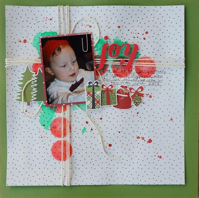 Sara Kronqvist - Saras pysselblogg: Joy   Christmas themed scrapbooking page
