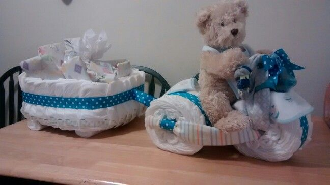Tricycle Diaper Cake With Wagon   Baby Shower Gifts In 2019-3726