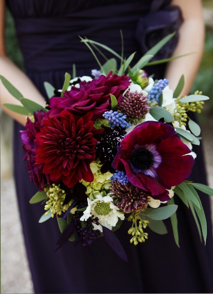 lovely textures with dahlias