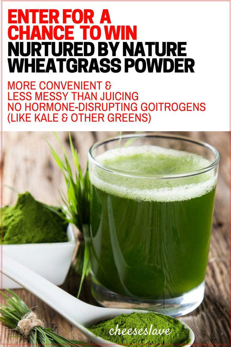 Giveaway - Nurtured By Nature Wheatgrass Powder