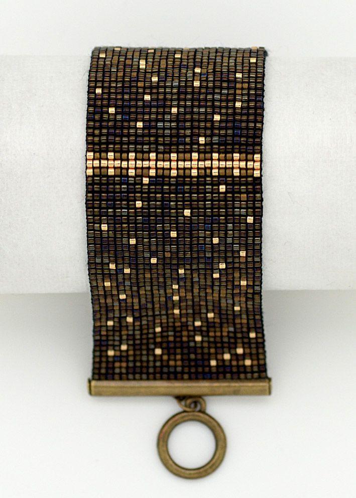 Bracelet manchette perles japonaises Charleston - best Vente