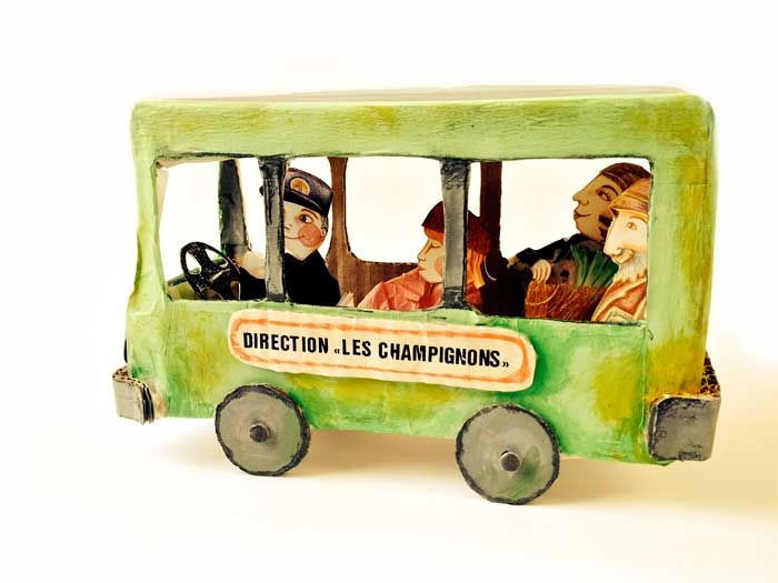 "Le petit bus de Cartonville - Album jeunesse ""Mystère à Cartonville"" - Olivia Paroldi"