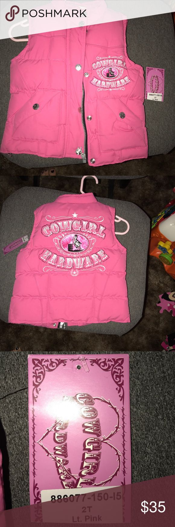 Cowgirl Hardware Puffy Vest - NWT - 2T Cowgirl Hardware Puffy Vest - NWT - 2T Cowgirl Hardware Jackets & Coats Vests