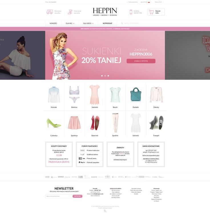 Behance :: Heppin.com Redesign (WIP) by Mateusz Lomber #lumberpack #redesign #e-commerce #ecommerce #commerce #heppin #heppin_com #webdesign #web #design #graphic #graphics http://heppin.com (not implemented)