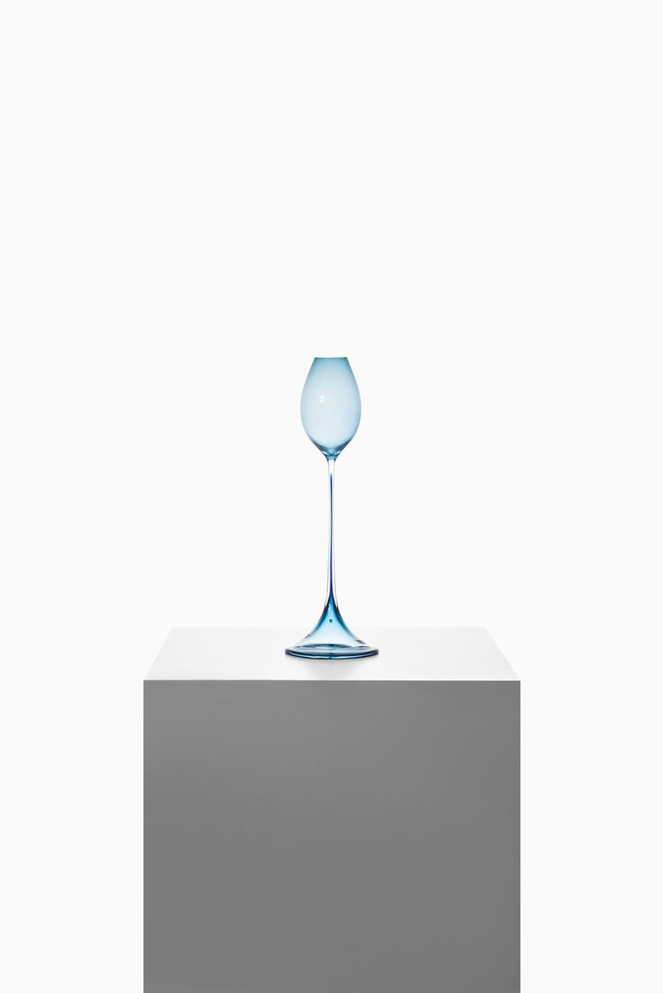 Nils Landberg tulip glass by Orrefors at Studio Schalling