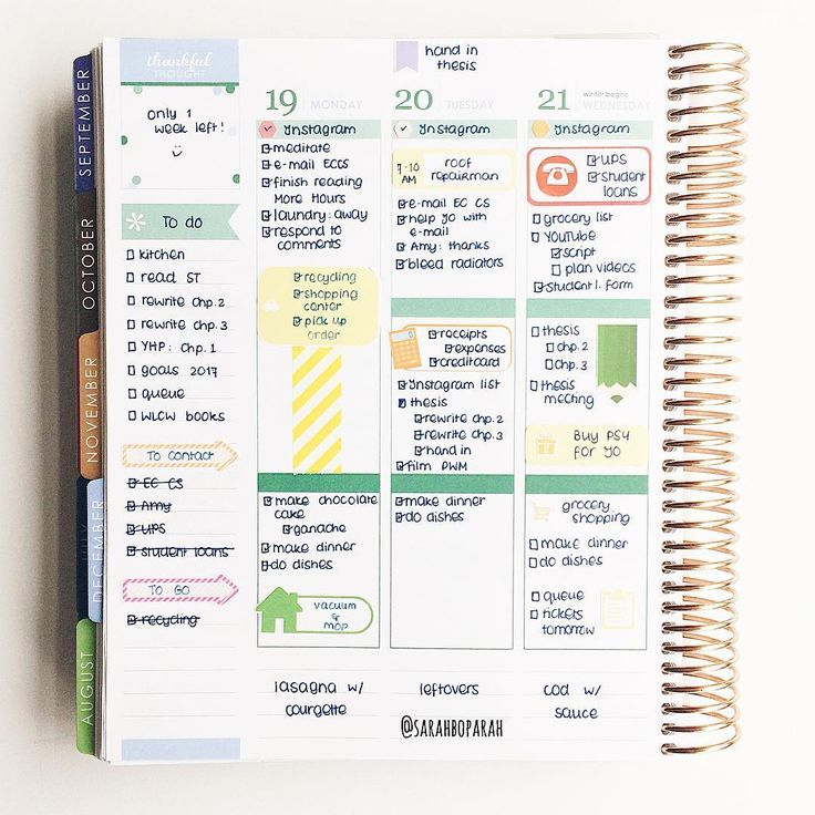 """sarahboparah: Midweek in my Erin Condren Life Planner. I call this my """"whatever sticker I had on hand"""" week"""