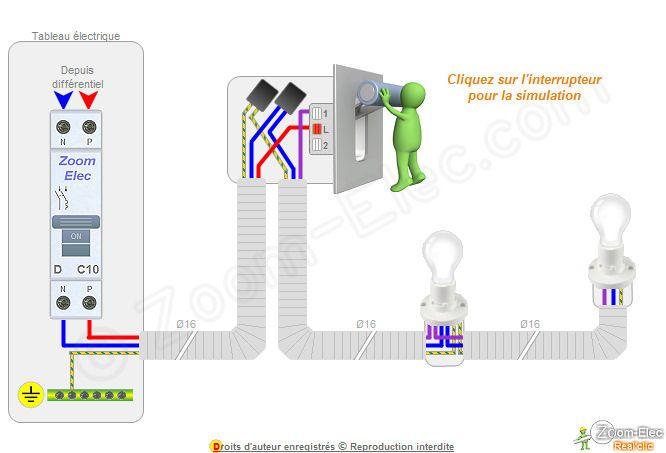branchement interrupteur branchement elec pinterest. Black Bedroom Furniture Sets. Home Design Ideas