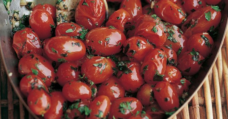 3 tablespoons good olive oil 2 teaspoons minced garlic (2 cloves) 2 pints small cherry tomatoes or grape tomatoes 2 tablespoons chopped fresh basil, plus more…