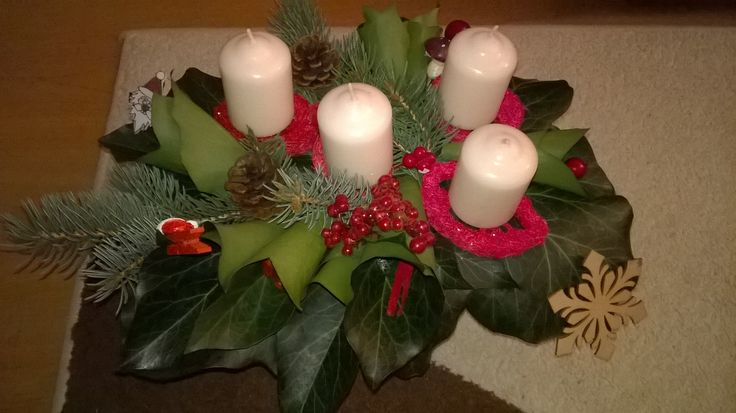 Karácsonyi, adventi dísz, Christmas decoration