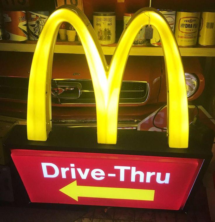 Original McDonalds Drive Thru Light Up Sign
