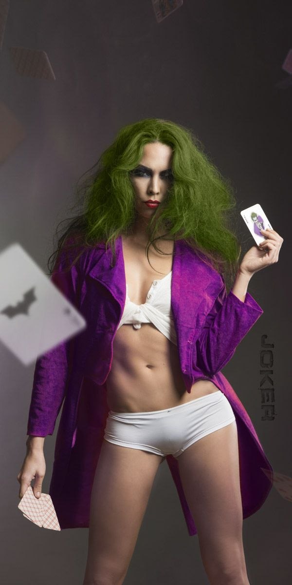 Série de photos inspirée de Batman au féminin - Voici Joker