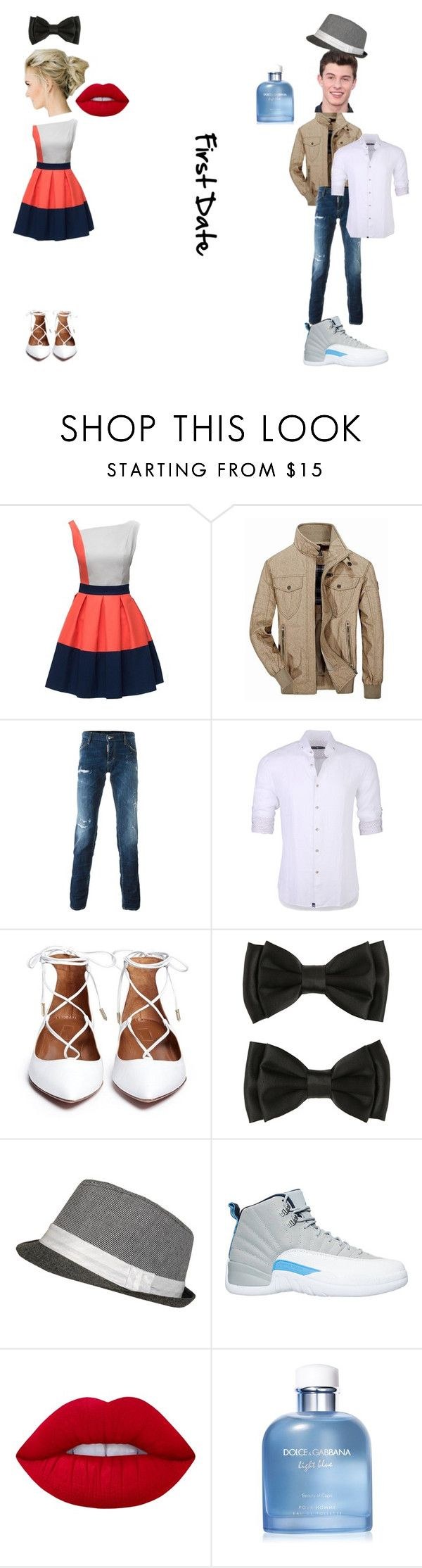"""First Date"" by kristenkelly09 on Polyvore featuring Jeep Rich, Dsquared2, Stone Rose, NIKE, Lime Crime and Dolce&Gabbana"
