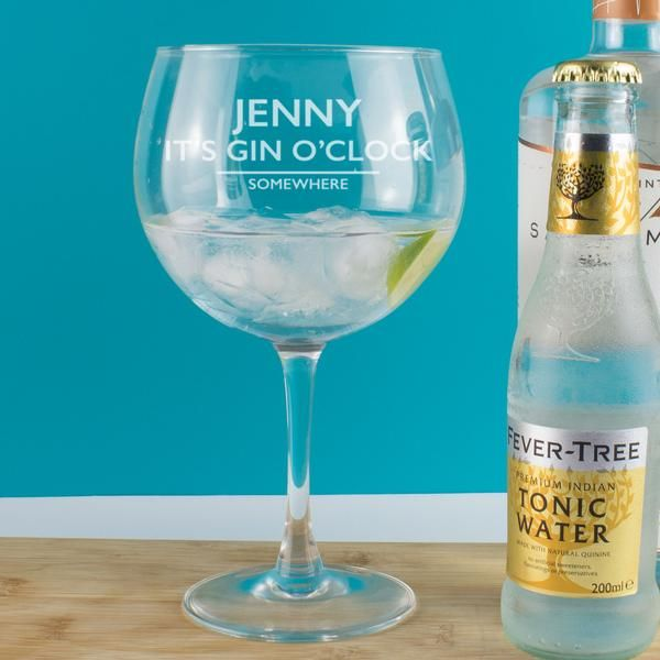 Personalised Gin and Tonic Copa Balloon Glass | Personalised