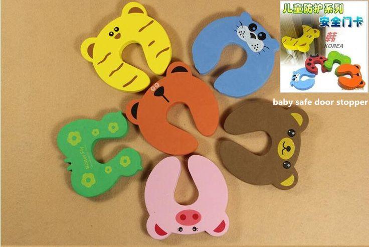 5pieces/lot Cute cartoon baby safety door lock safe door stopper children door lock child locks safety protection products baby