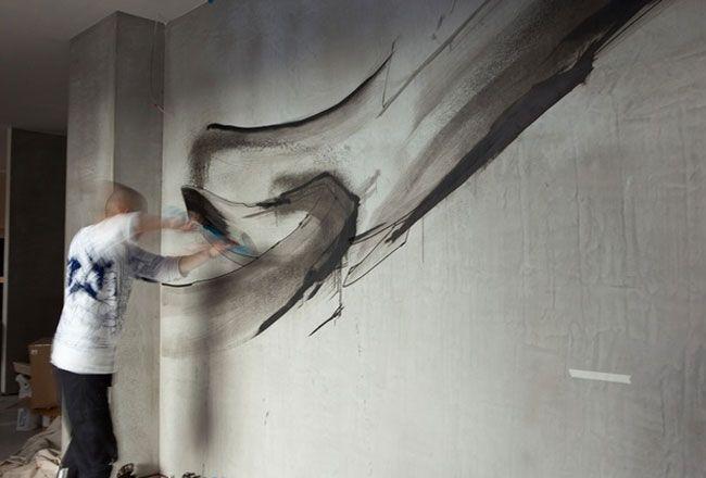 Jun Inoue, Japanese graffitti artist, at Trocadero, Melbourne