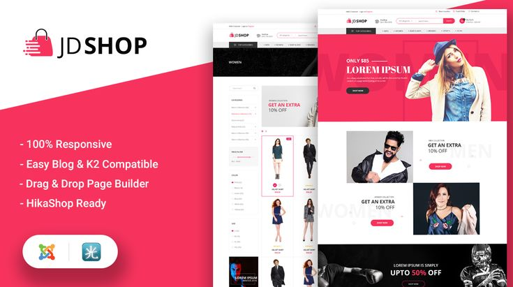 JD Shop is a newly released Joomla 3.x template, best suits on ecommerce websites If you are planning to start any kind of shopping website then it's an ideal choice for you. I think you should check it out at once and you'll love it...:) #joomla #ecommerce #HikaShop #K2 @EasyBlog