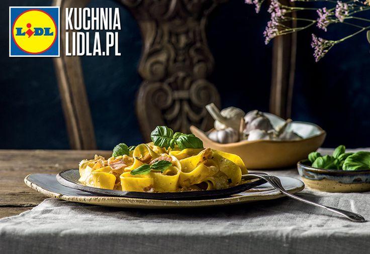 PAPPARDELLE Z SZYNKĄ PARMEŃSKĄ I GORGONZOLĄ. Kuchnia Lidla - Lidl Polska. #stefanoterrazzino #makaron #szynka #kuchniawloska